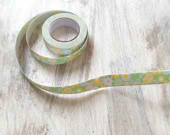 Fabric Ribbon tape 15mm flowers