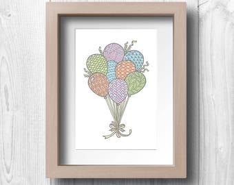 Balloons - Printable Wall Art