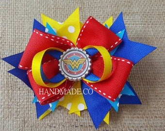 Wonder Woman girls hairbow