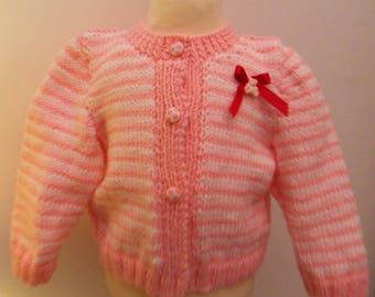 Vest pink and white for girl 6 months