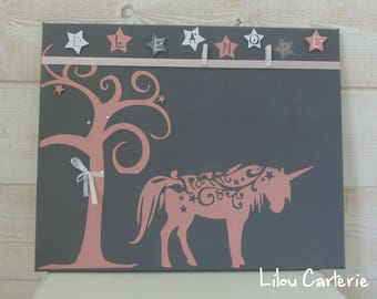 Custom painting to decorate your Unicorn theme child's room