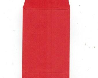 Set of 10 kraft 12 x 7 cm red plain gift paper bag ideal bijo
