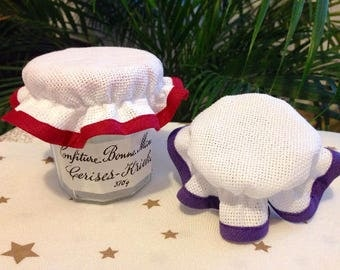 Charlotte jam jar top embroidery cross stitch, color choice