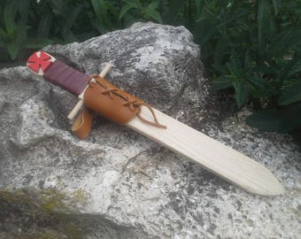 Wooden Toy: the small ash Templar sword