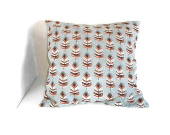 Cushion cover 40 X 40 cm fabric printed feathers