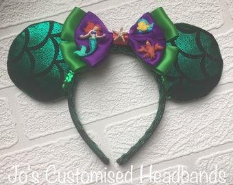 Headband - Ariel / The Little Mermaid Inspired Mouse / Mickey Ears