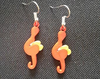 musical treble clef earrings