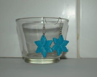 Turquoise star earrings