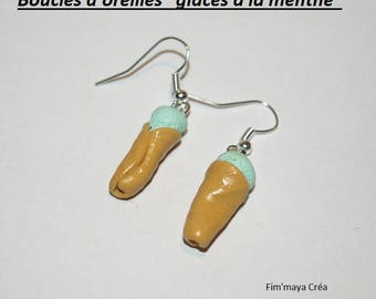 "Delicious and summery earrings ""My ice mint"""