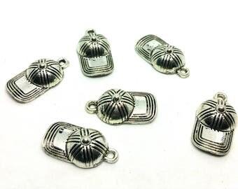 x 1 charm - sports metal cap - cap - custom jewelry silver