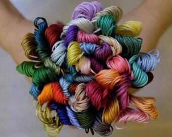 50 DMC colors 100% cotton floss embroidery thread cross stitch 8m 6strands skein similar dmc quality Double Mercerized set B