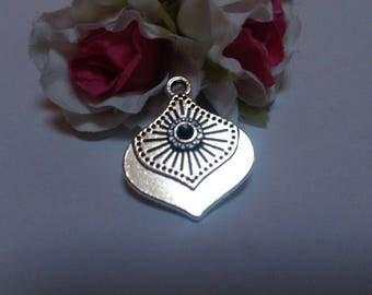 Silver charm antique Tibetan charms