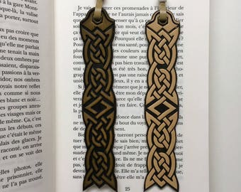 Embossed Celtic leather bookmark