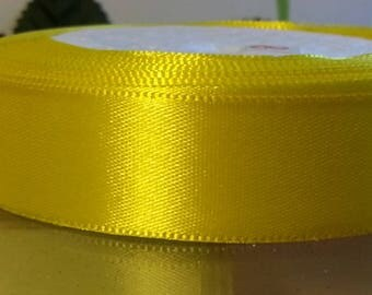 20mm wide yellow satin ribbon 3 meters