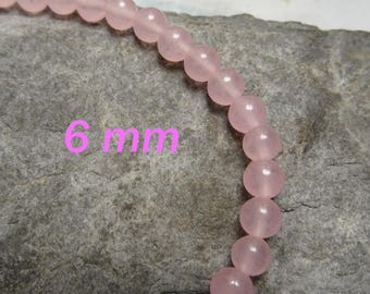 high quality 6 mm rose quartz 10 beads ideal for creating