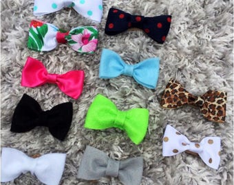 PICK 3-Felt Bows-Ribbon Bows-Nylon Band