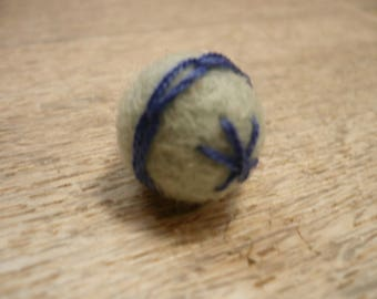 wool felted, embroidered beads