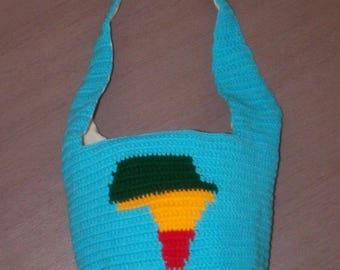 Bag 'africa' double blue linen