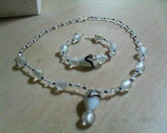 modern set (necklace and bracelet), original (white)