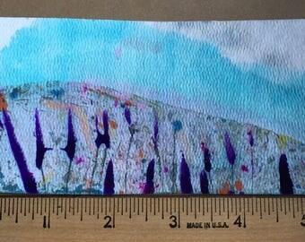 Fields of Heather miniature painting OOAK