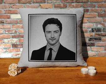 James Mcavoy Pillow Cushion - 16x16in - Grey