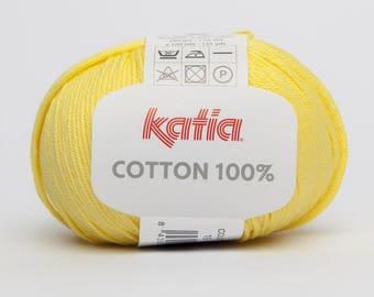 Katia 19 yellow color 100% COTTON