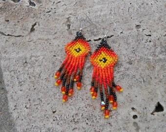 "Beaded earrings ""Alisha"" seed beads"