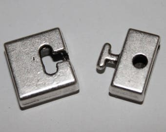 Clasp 2 pieces 13 * 25 mm cord.