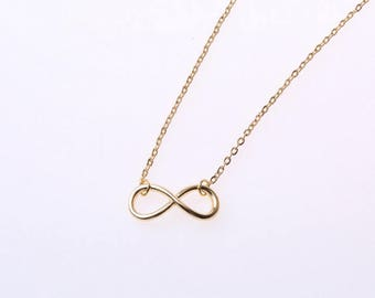 plated thin infinity pendant necklace