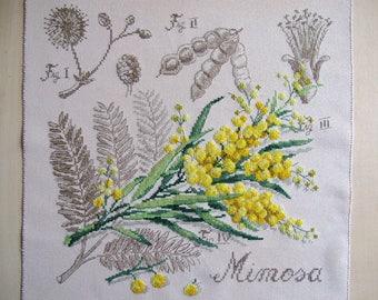 """Beautiful embroidery """"mimosa"""" cross stitch"""