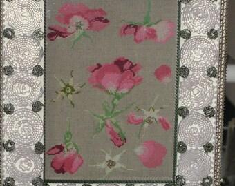 Rose petals in cross stitch chart