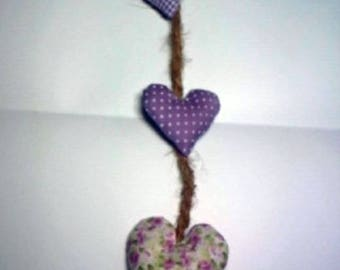 3 hearts and natural rope braid