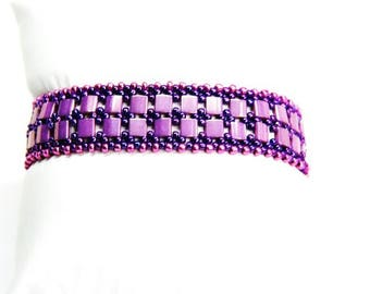 Purple and Pink Bracelet, Bridesmaid Jewellery, Wedding Jewellery, Gift for Her, Mothers Day Gift, Purple Bracelet, Pink Bracelet