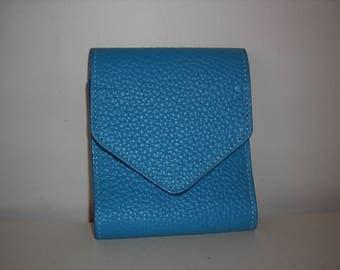 Checkbook turquoise Buffalo leather