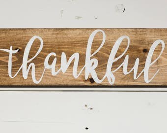 Grateful | Thankful | Blessed Wooden sign