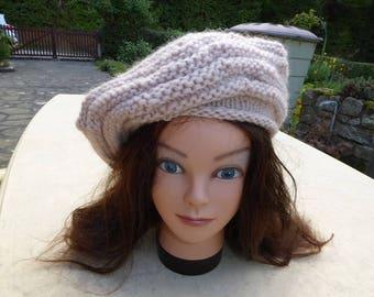 pretty pink wool beret powder
