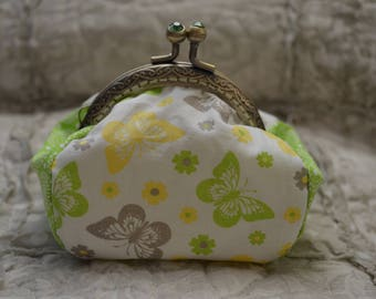 Purse fabric cotton Butterfly pattern.