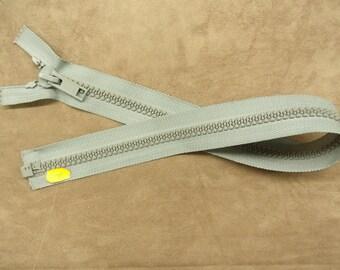 Separable zipper - large mesh-60 cm - grey