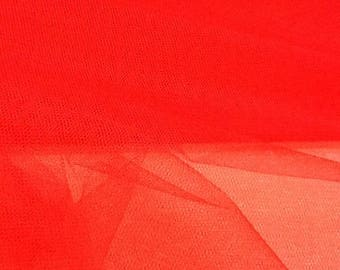 tulle color stiff red-140 cm
