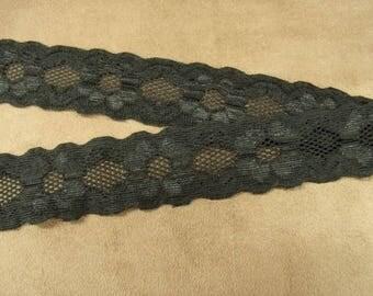 Black Lace - 3 cm - elastane