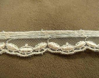 CALAIS lace - 1.5 cm - salmon
