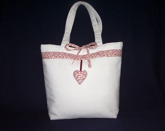 white canvas tote bag vintage