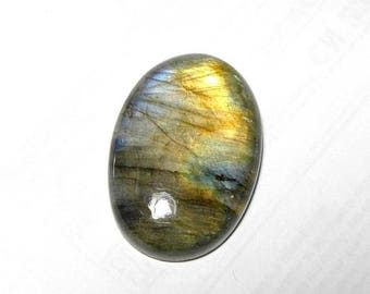 30% Discount Sale, Natural Labradorite Oval cabochon, Size 32x22x7mm, Labradorite Loose Gemstone,Wt- 45.10 Ct, Smooth Cab, Multi Flashy ston