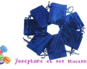 1 Navy Blue metal 7x9cm gift bag