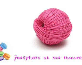 1 meter of fuchsia 3 mm thick hemp