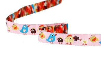Ribbon cotton birds chicken bag 1.90 metres