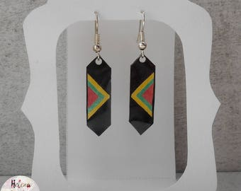 South Africa shrink plastic earrings
