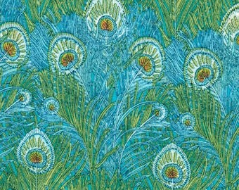 Coupon 86x137cm Liberty Hera Turquoise fabric