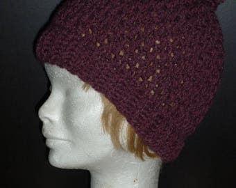 Plum classic Beanie crochet