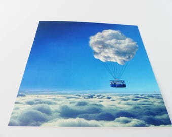 Cloud Sky clouds balloon square card